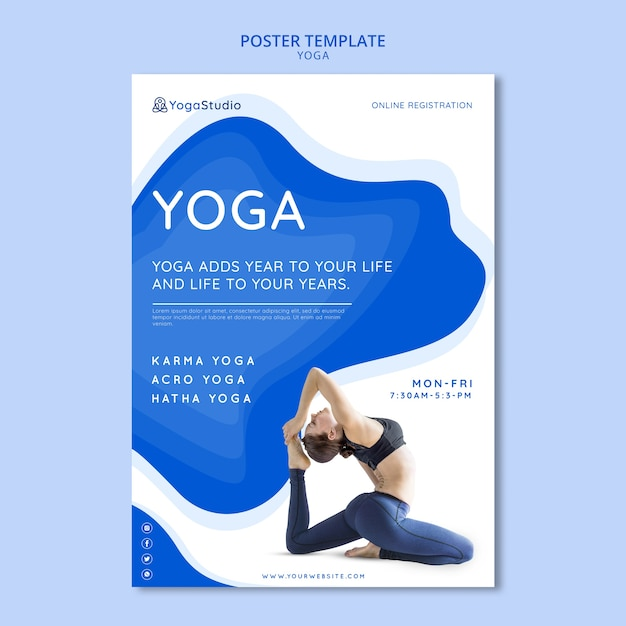Flyer For Yoga Fitness Free Psd File