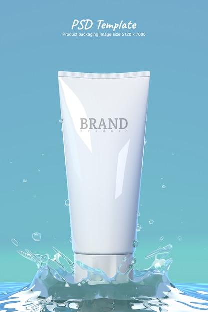 Foam face mockup 3d render for product design. Premium Psd