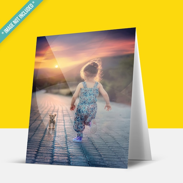 Foldable photo mockup Premium Psd