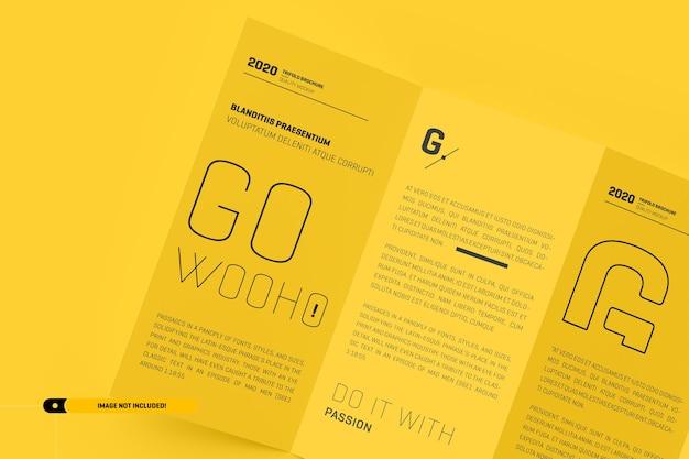 Сложенный макет брошюры Premium Psd