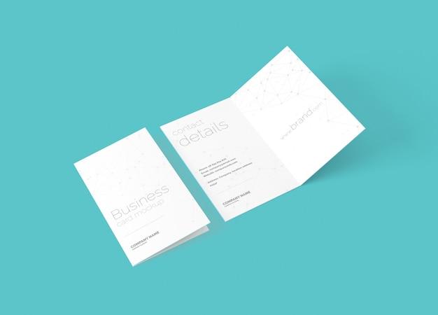 Folded business card mockup Premium Psd