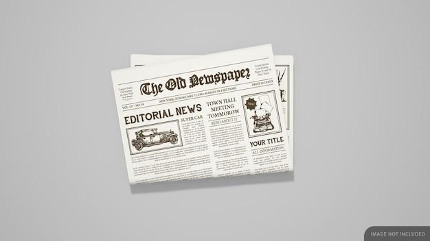 접힌 신문 모형 프리미엄 PSD 파일