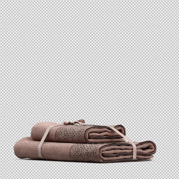 Folded towels 3d isolated render PSD file | Premium Download
