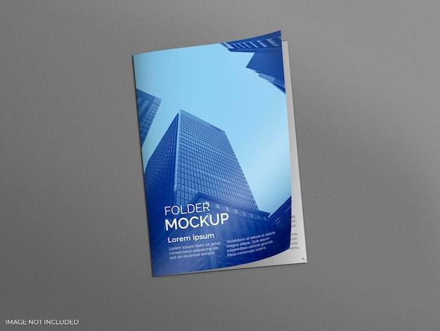 Folder in grey surface mockup Free Psd