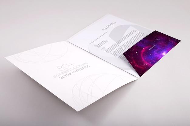 Папка макете дизайн Premium Psd