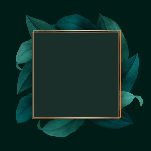 Foliage decorated frame Free Psd