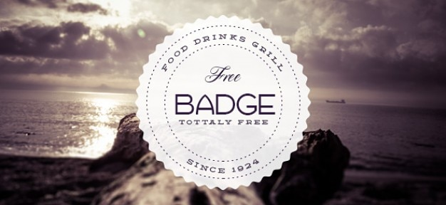 Food badge retro template Free Psd