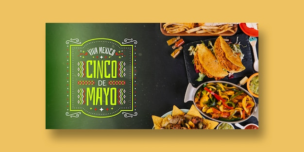 Food banners mockup with mexico concept Free Psd