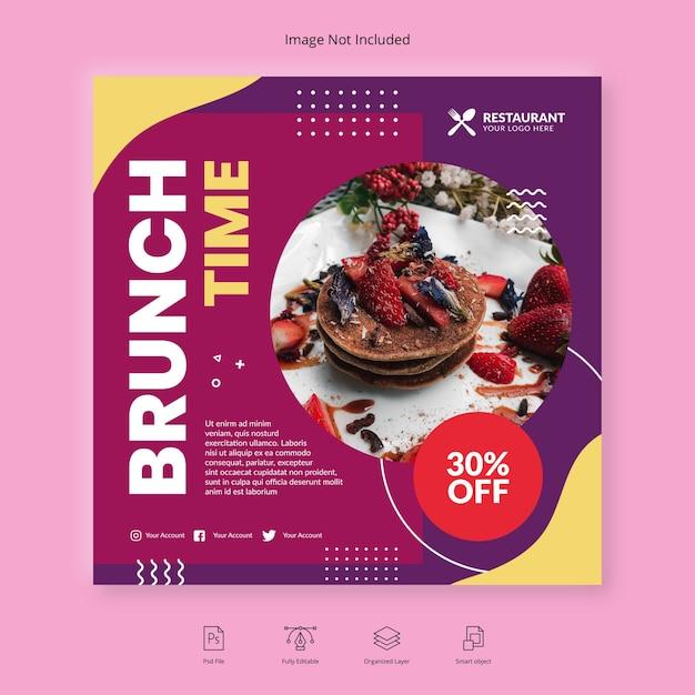Food brunch social media post Premium Psd