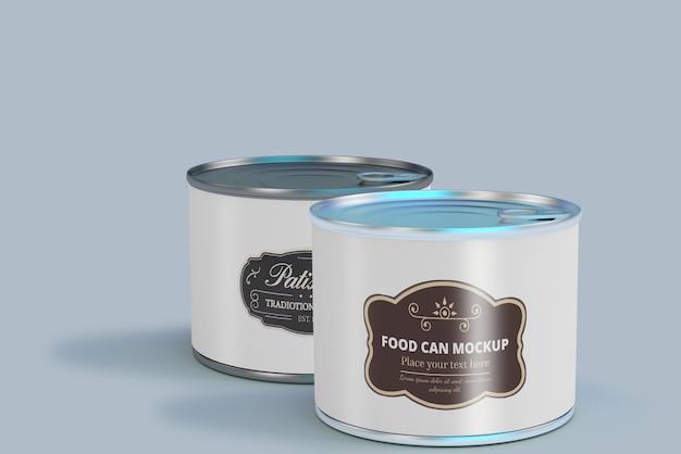 Food can mockup Premium Psd