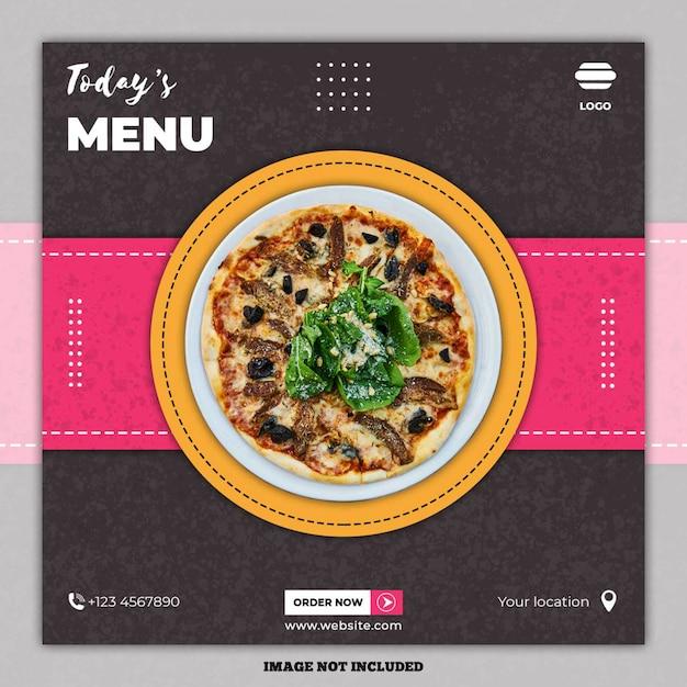 Еда кулинарные социальные медиа пост баннер Premium Psd
