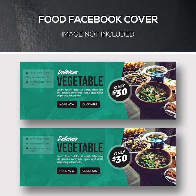 Food faebook cover Premium Psd