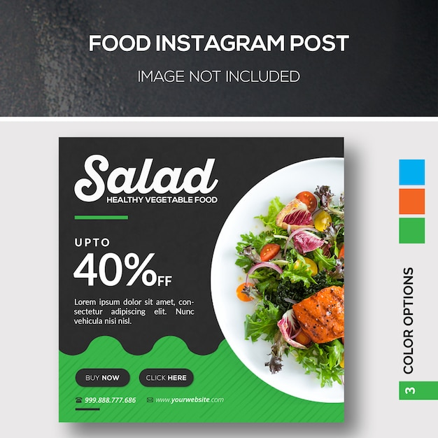 Food instagram post Premium Psd