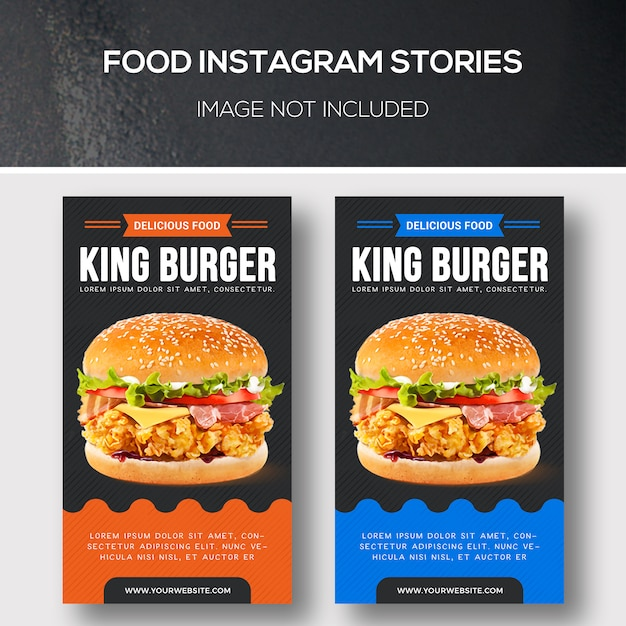Food instagram stories Premium Psd
