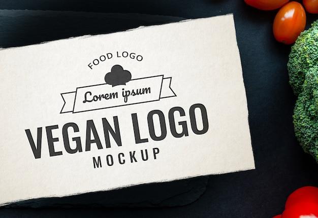 Food logo mockup table spice Premium Psd