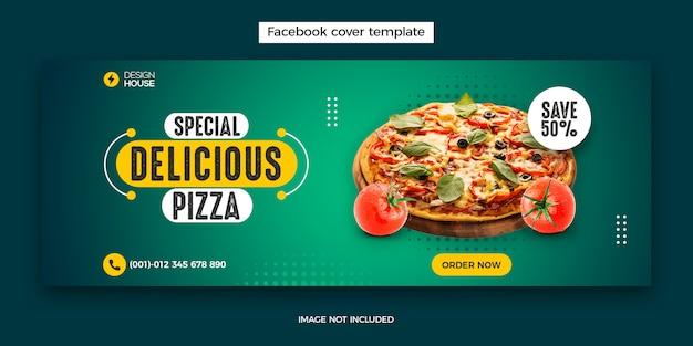 Фуд-меню и шаблон поста в facebook Premium Psd