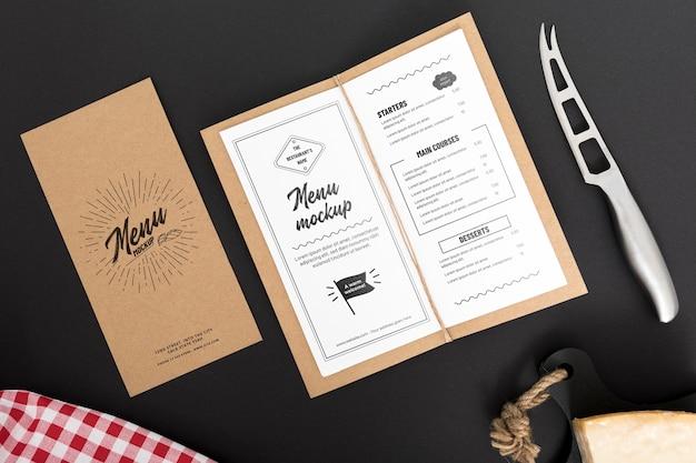 Food menu concept mock-up Free Psd
