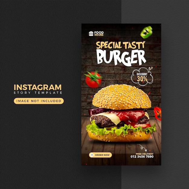 Food menu instagram and facebook story template Premium Psd