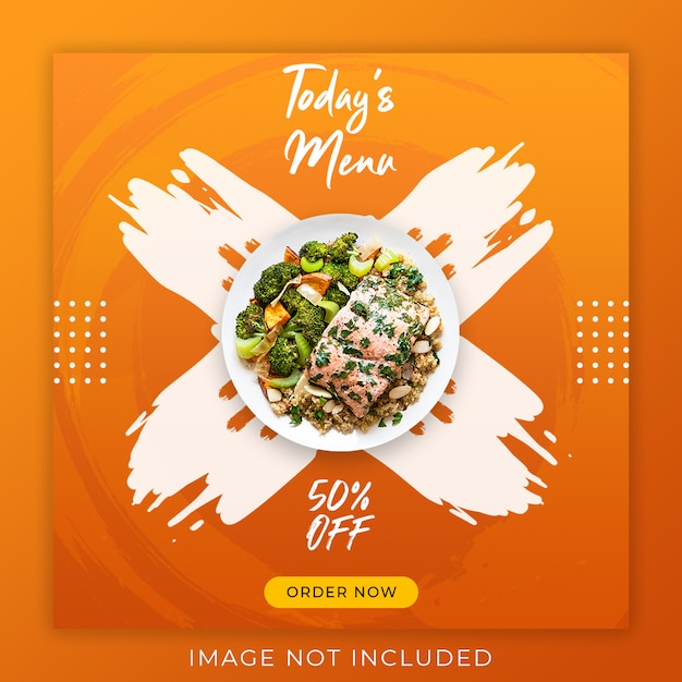 Food menu promotion post banner template Premium Psd