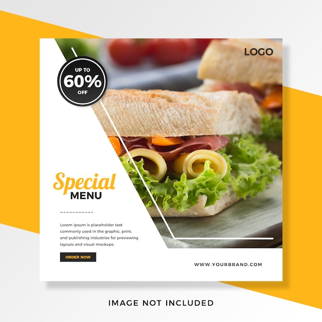 Food offers discount instagram post template Premium Psd