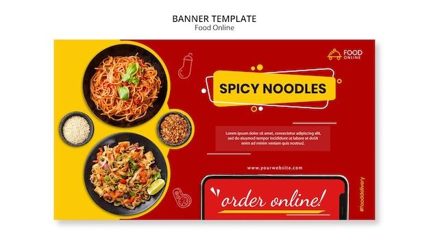 Mock-up di banner di concetto online di cibo Psd Gratuite