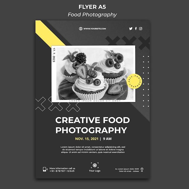 음식 사진 포스터 템플릿 프리미엄 PSD 파일
