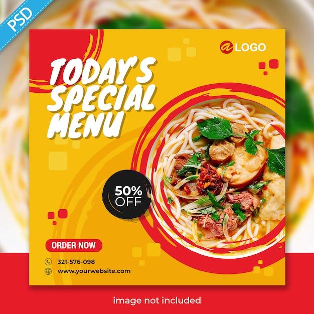 Food for social media instagram post banner template premium Premium Psd