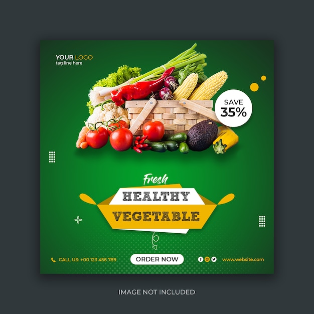 Food social media instagram post template Premium Psd