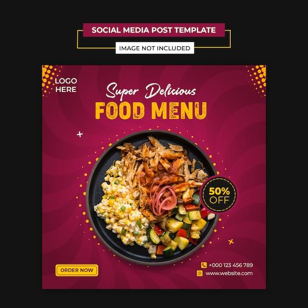 Food social media and instagram post template Premium Psd