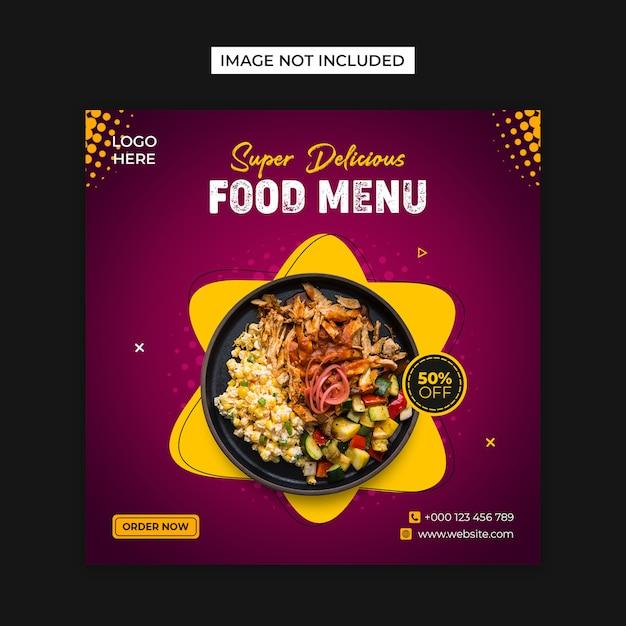 Food social media & instagram post template Premium Psd