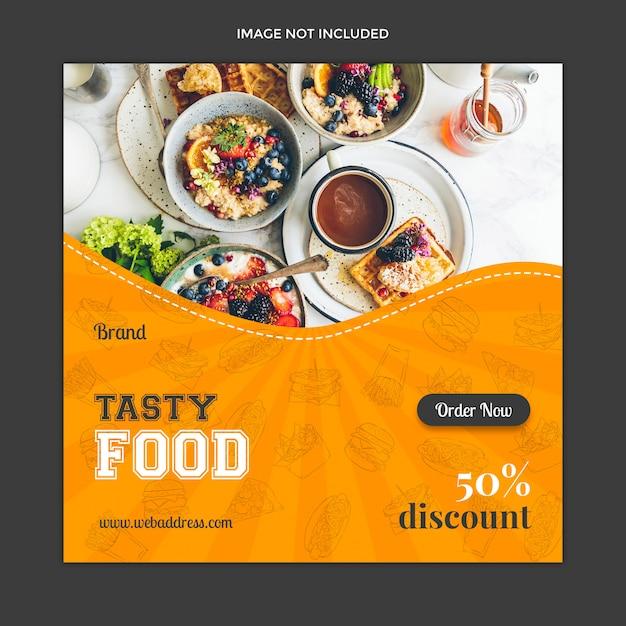 Food social media post template design Premium Psd