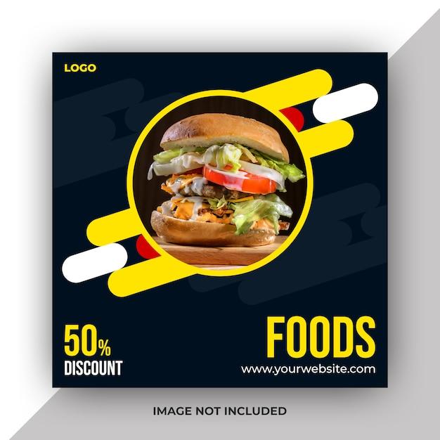 Food social media post template Premium Psd
