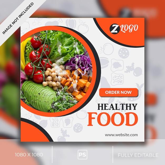 Food social media post Premium Psd