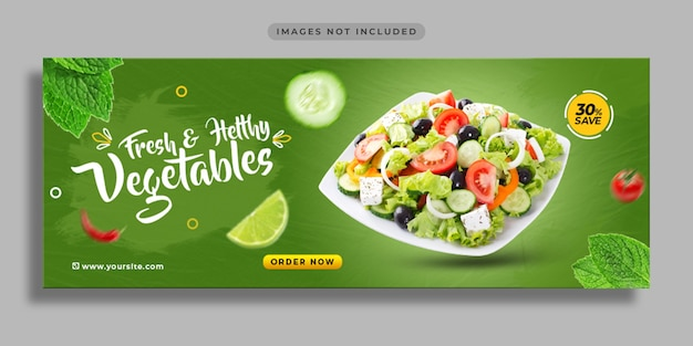 Food social media promotion and web banner design template Premium Psd
