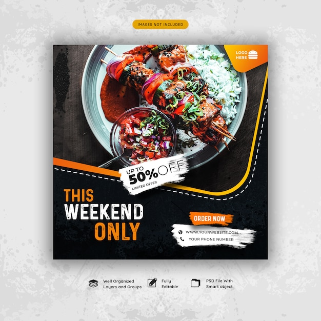 Food special offer social media promotion Premium Psd