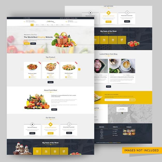 Food store web template premium psd Premium Psd