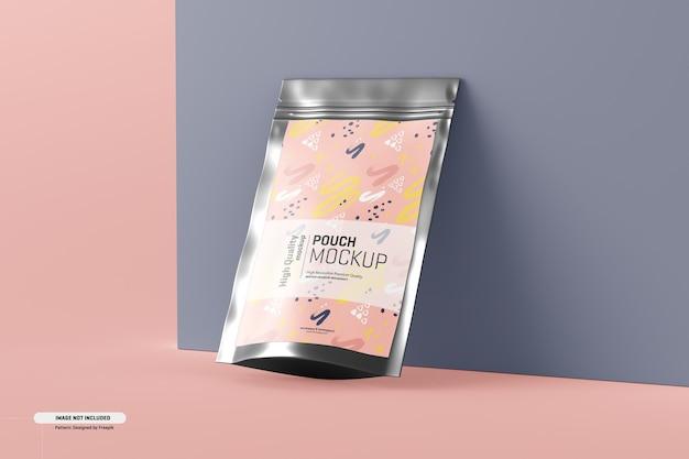 식품 보충제 파우치 포장 모형 무료 PSD 파일