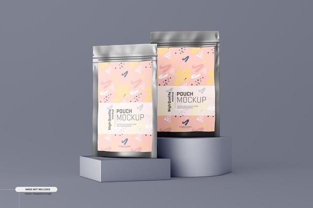 栄養補助食品ポーチ包装モックアップ 無料 Psd