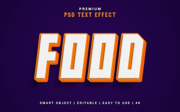 Пищевой текстовый генератор эффектов Premium Psd
