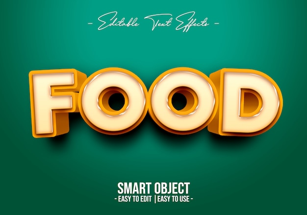 Food-text-style-effect Premium Psd