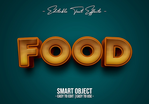 Food text style effect Free Psd