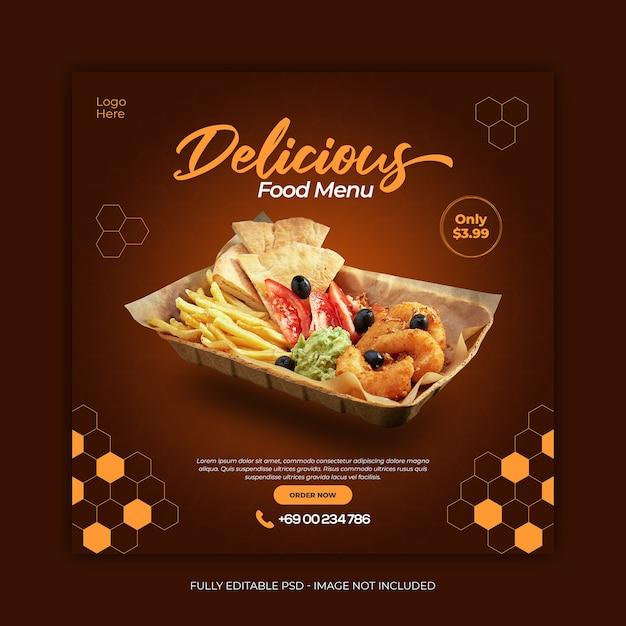Foods social media instagram post template Premium Psd