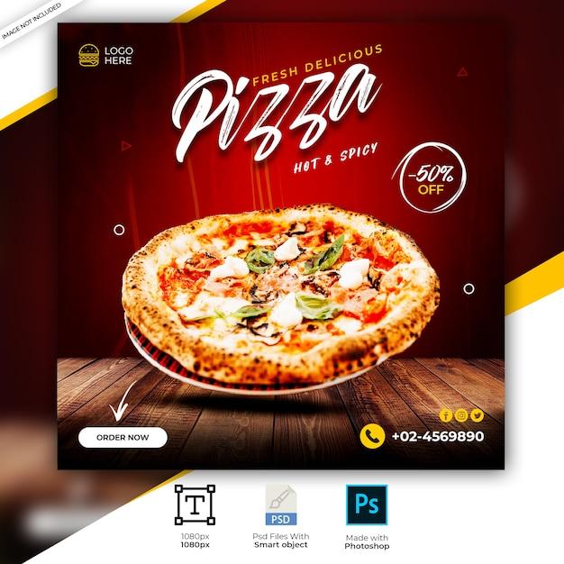食品ソーシャルメディアinstagramの投稿テンプレート Premium Psd
