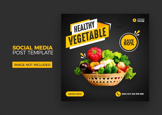 Foods social media instagram post template Premium Psd