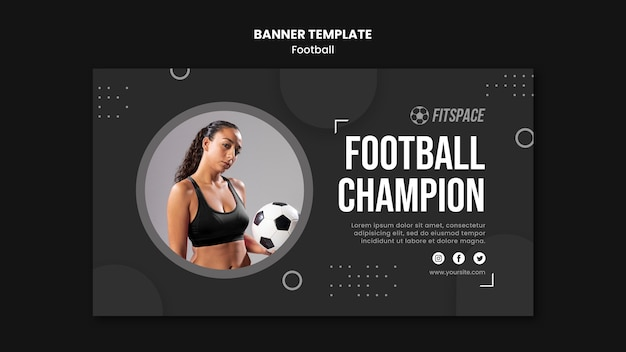 Football ad banner template Free Psd