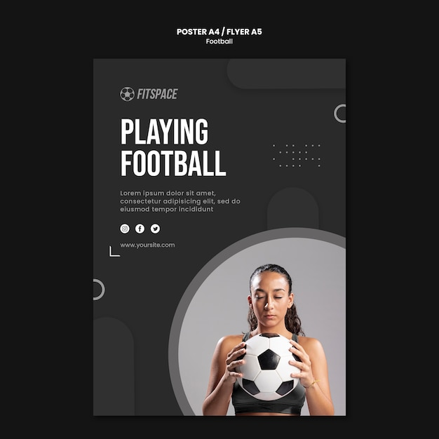 Football ad flyer template Free Psd