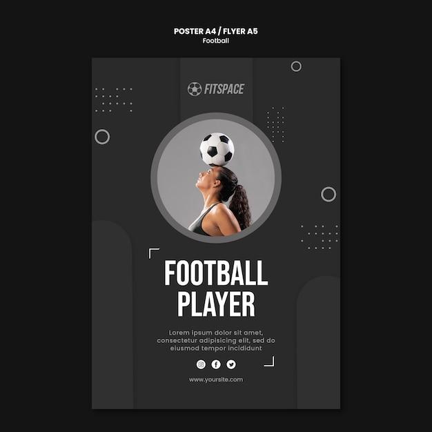Шаблон рекламного плаката футбола Бесплатные Psd