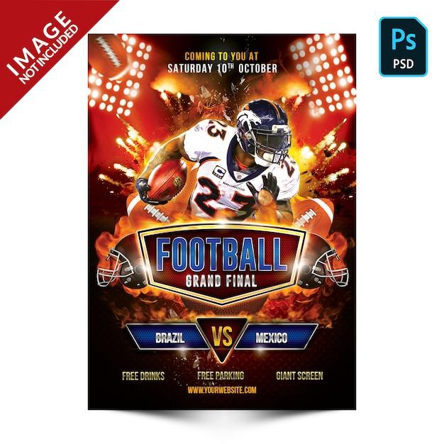Football flyer template Premium Psd