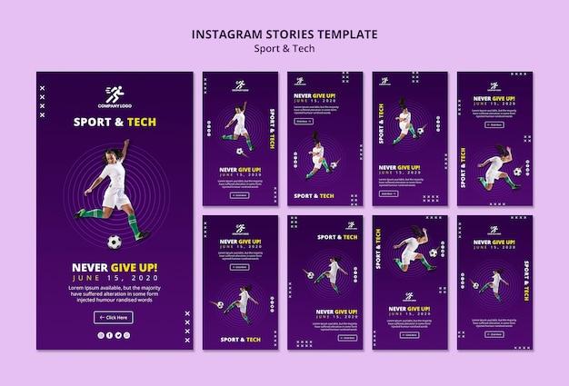 Football girl instagram stories template Free Psd
