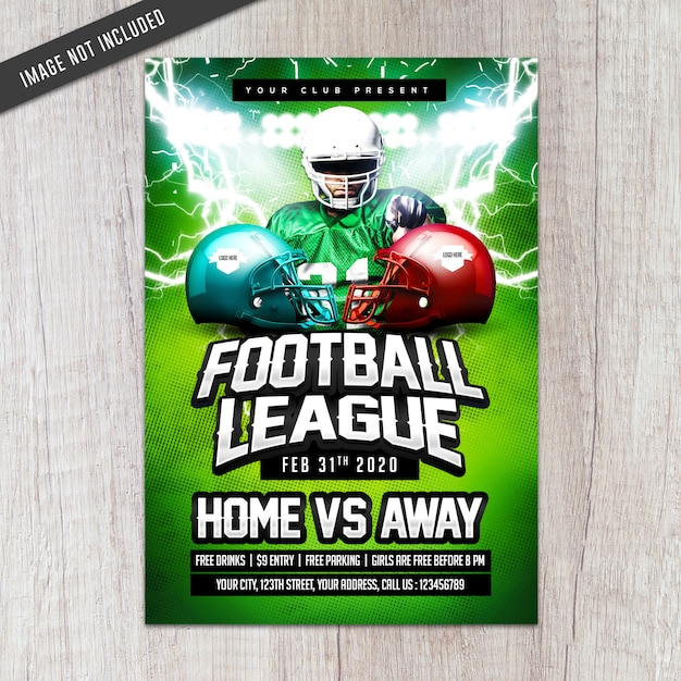 Football league flyer Premium Psd